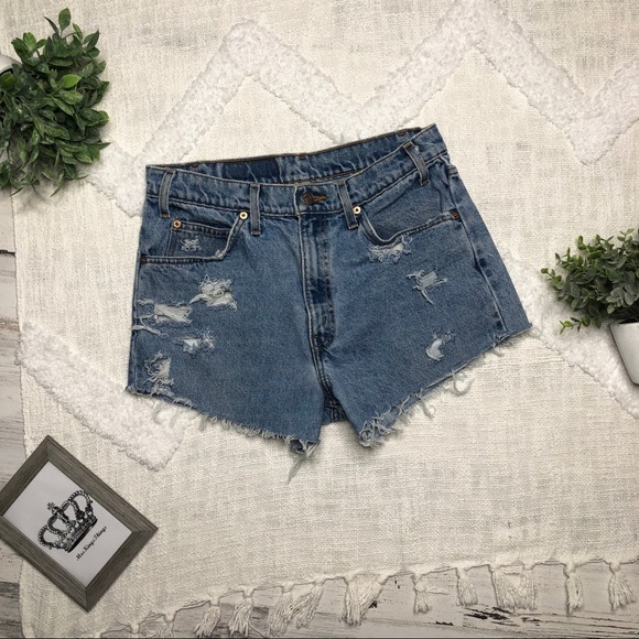 ee9655f8 Levi's Shorts | Restyled Levis 550 Vintage High Rise Jean | Poshmark